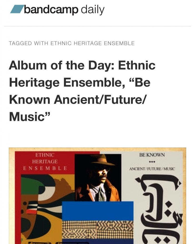 ETHNIC HERITAGE ENSEMBLE ALBUM OF THE DAY BANDCAMP