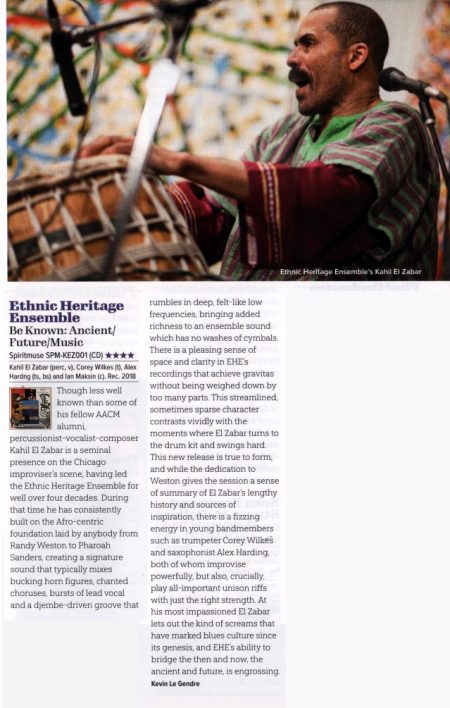 ETHNIC HERITAGE ENSEMBLE JAZZWISE REVIEW